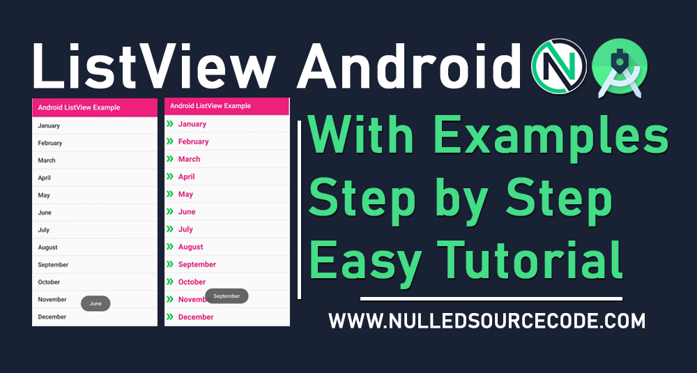 Android Custom ListView with image icon and texview Tutorial and Example - NSC - Nulled Source Code - Android Studio Free Course Step by Step totorials