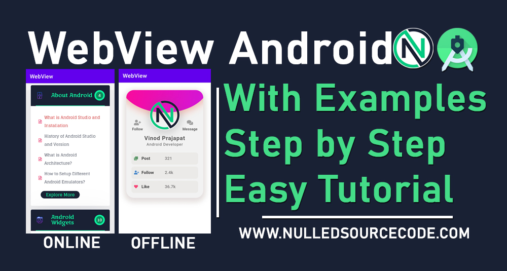 Android WebView with online and offline web page - NSC - Nulled - Android Free Course step by step totorials