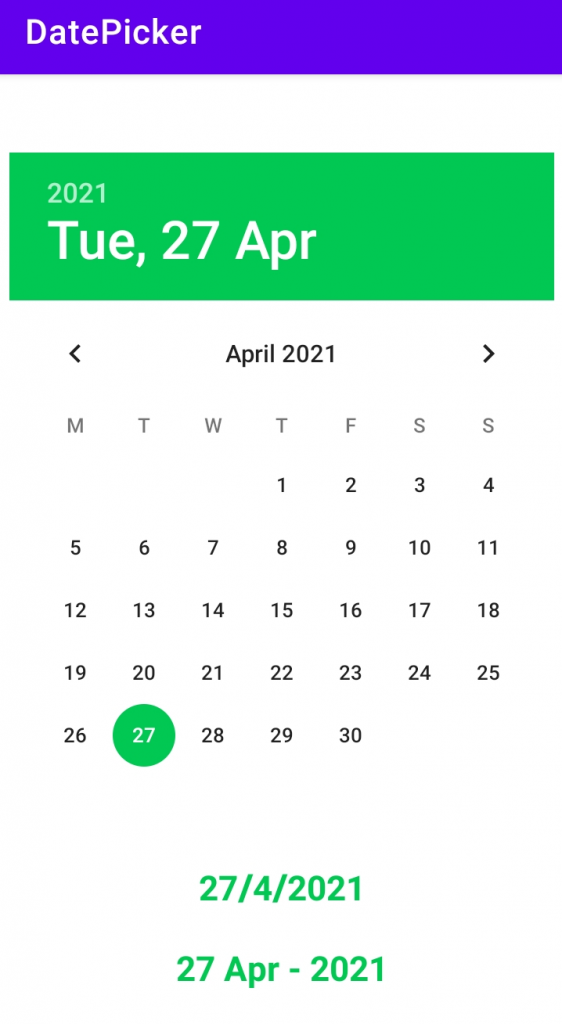 Different Date Format using Date Picker - Android Studio tutorials Free
